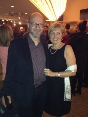 Aaron Heick (saxophone) and Susan Lester (TBCAF Board President)